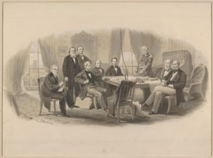 President Lincoln and his Cabinet-Christian Schussele drawing (Source-Metropolitan-Museum of Art)